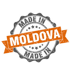 Made in moldova round seal vector