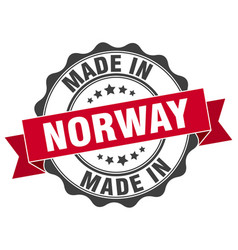 Made in norway round seal vector