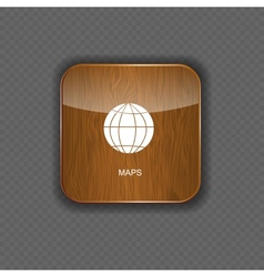 Map wood application icons vector image