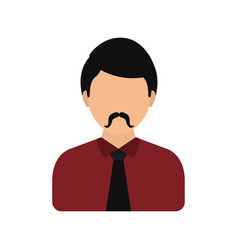 Men faceless profile vector