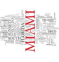 Miami word cloud concept vector