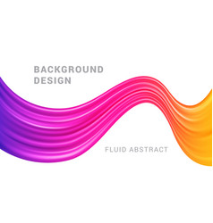 Modern colorful flow abstract background vector