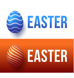 modern trendy colorful typography happy easter vector image