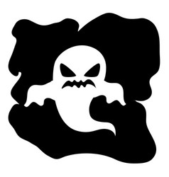 monochrome background halloween with ghost vector image vector image