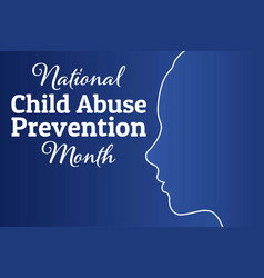 National child abuse prevention month april vector
