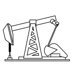 Oil pump mahcinery vector