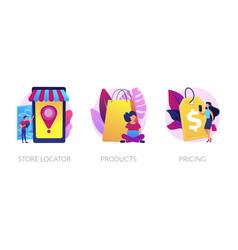 online store concept metaphors vector image