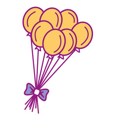 Party balloons celebration icon vector