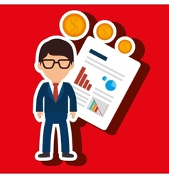 person infographics graphics money vector image