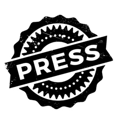 Press stamp rubber grunge vector image vector image