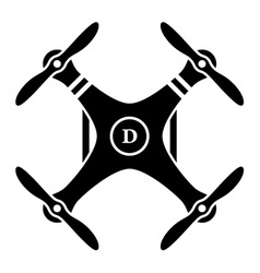 rc drone quadcopter black symbol vector image