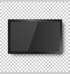 Realistic tv screen icon in flat style monitor vector