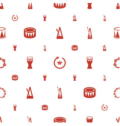 rhythm icons pattern seamless white background vector image