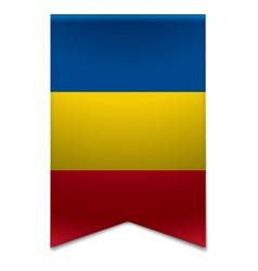 Ribbon banner - romanian flag vector image