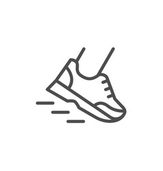 running line icon vector image