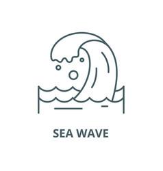 sea wave line icon linear concept outline vector image