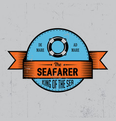 Seafarer label poster vector