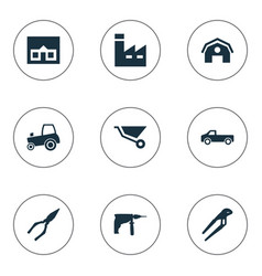 Set of simple build icons vector