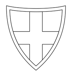 Shield for protection icon outline style vector