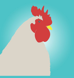 single icon with a cock vector image