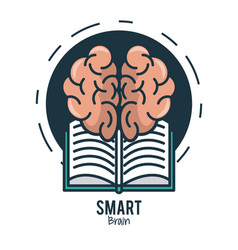 smart brain ideas vector image