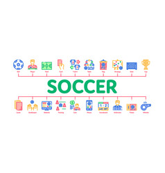 soccer football game minimal infographic banner vector image