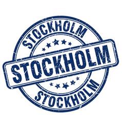 Stockholm stamp vector