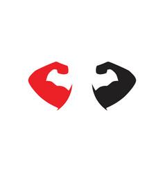 strong arm symbol logo vector image