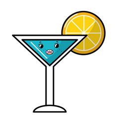 summer cocktail cartoon vector image