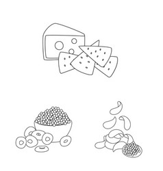 Taste and crunchy icon vector
