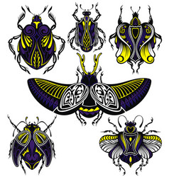 tattoo bugs vector image