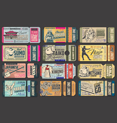 Tickets japanese museums festivals and shows vector