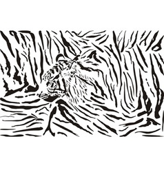 tiger pattern background vector image