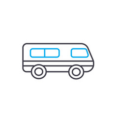 tourist car thin line stroke icon tourist vector image