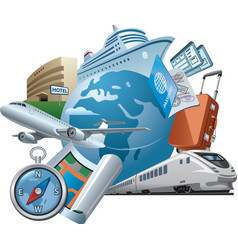 travel and journey vector image