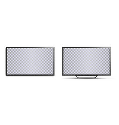 tv mockup with blank screen two realistic 3d tvs vector image