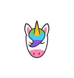Unicorn head icon symbol vector