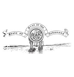 United states seal of arkansas vintage vector