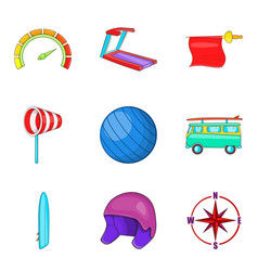 Vigor icons set cartoon style vector