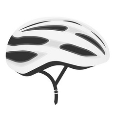 White bicycle helmet isolated on a white vector