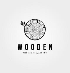 wood texture icon logo vintage symbol design vector image