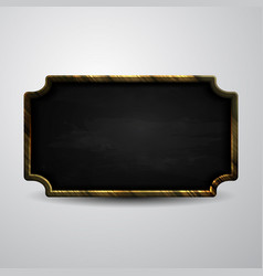 Wooden frame chalkboard background vector