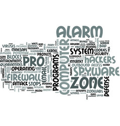 Zonelabs zone alarm pro review text word cloud vector