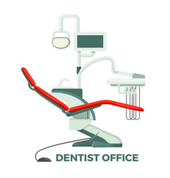 dentist office with comfortable chair and modern vector image