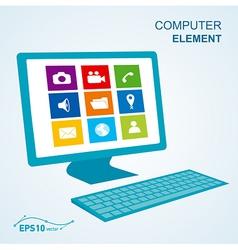 keyboard computer display no effect vector image vector image