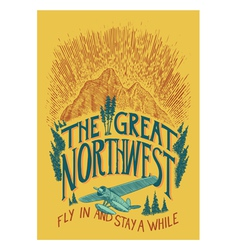 The Great Northwest vector image vector image