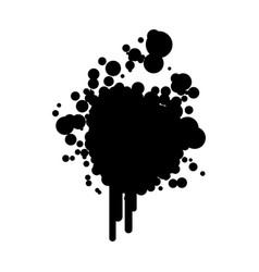 black silhouette ink splash icon vector image vector image