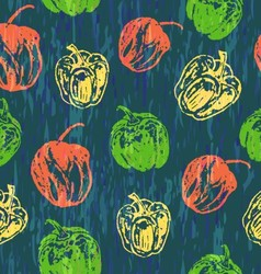 Seamless pattern with colorful paprika vector image