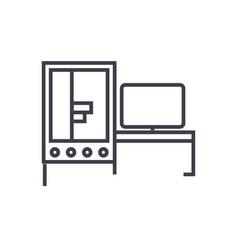 3d industrial printer icon vector image
