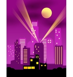 Cartoon night city vector